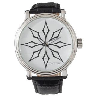 TATOO   tribal star black on any colour Wristwatch
