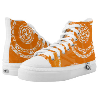 Tatou Fall Orange High-Top Sneakers