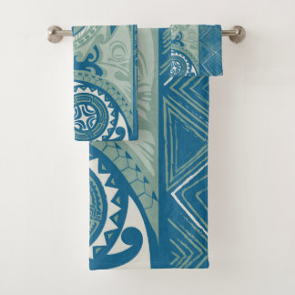 Tatou V - Bora Bora Lagoon Custom Bath Towel Set