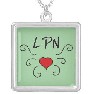Tatouage d'amour de LPN Pendentif Carré