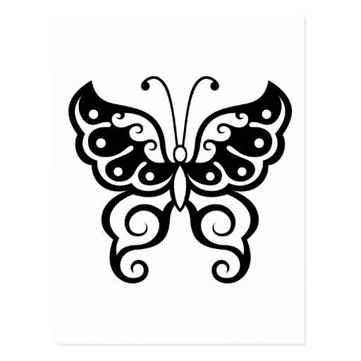 Tatouage de papillon carte postale