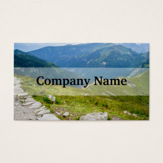 Tatra Mountains Ridge Landscape Photo Business Card