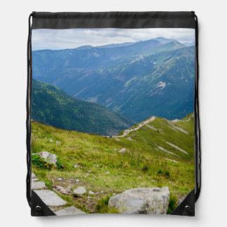 Tatra Mountains Ridge Landscape Photo Drawstring Bag