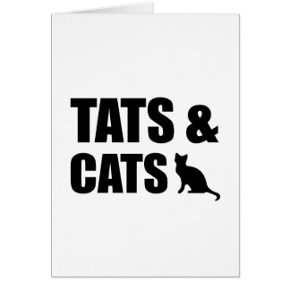 Tats & Cats Card