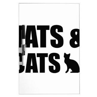Tats & Cats Dry Erase Whiteboard