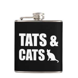 Tats & Cats Flask
