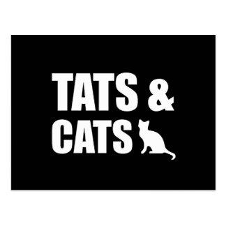 Tats & Cats Postcard
