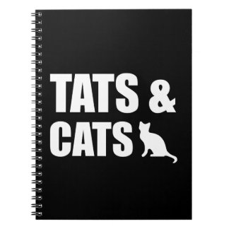 Tats & Cats Spiral Note Books