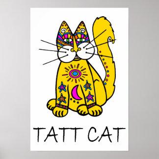 Tatt Cat Poster