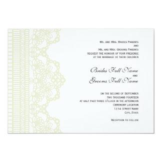 tatted lace wedding invitation