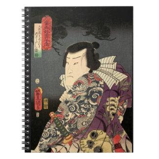 Tatted Samurai Spiral Note Books
