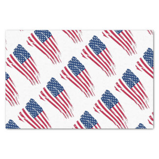 Tattered American Flag Tissue Paper
