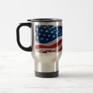 Tattered American Flag Travel Mug