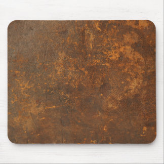 tattered rustic leather mouse pad