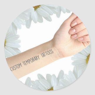 Tattify 4 x Custom Temporary Tattoos Round Sticker