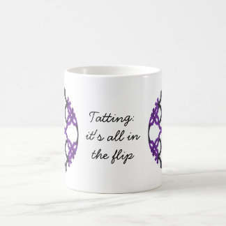 Tatting: It's All In The Flip Black and Purple Coffee Mug
