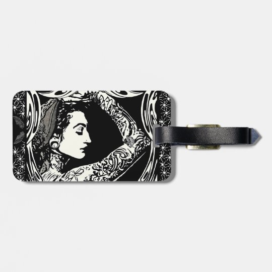 Tattoed gypsy luggage tag
