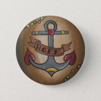 Tattoo Anchor 2 Inch Round Button