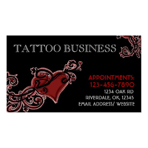 Tattoo artist customizable business cards zazzle for Business card size tattoos