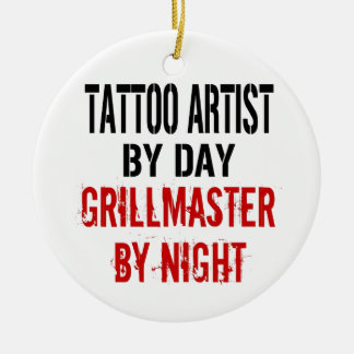 Tattoo Artist Grillmaster Ceramic Ornament