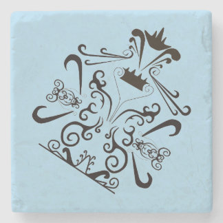 TATTOO BUTTERFLY MARBLE STONE COASTER