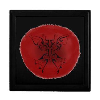 tattoo butterfly stamp like print keepsake box