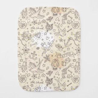Tattoo concept pattern burp cloth