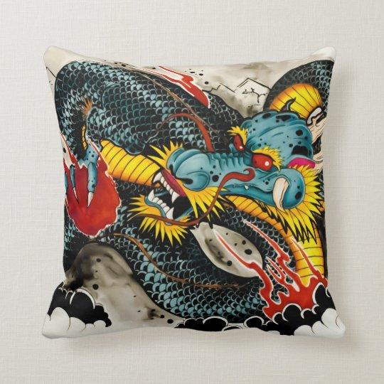 Tattoo Dragon Pillow