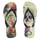 tattoo flashed out unisex flip flops