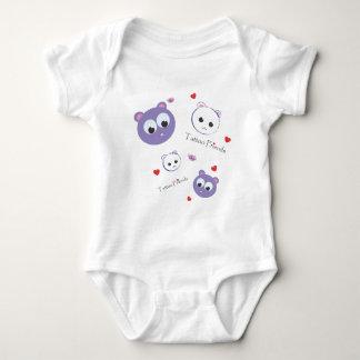 Tattoo Friends purple Baby Bodysuit