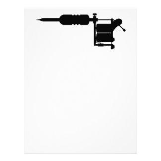tattoo gun letterhead template