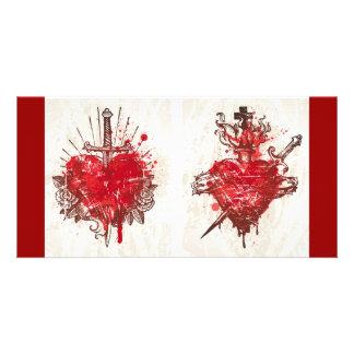 Tattoo Heart (1) Customized Photo Card