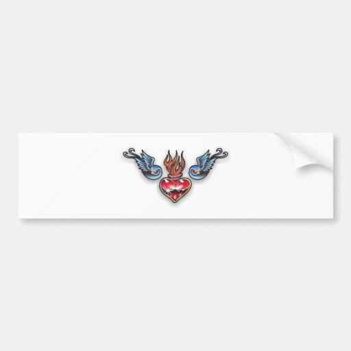Tattoo heart bumper sticker