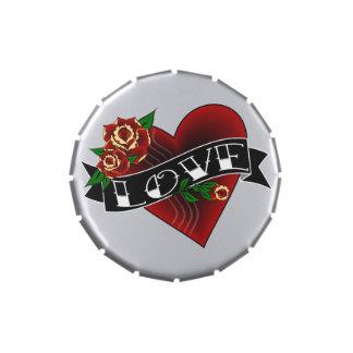 Tattoo Heart Candy Tins