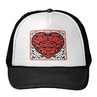 Tattoo Heart Mesh Hats