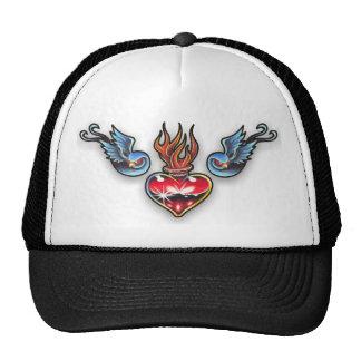Tattoo heart hats