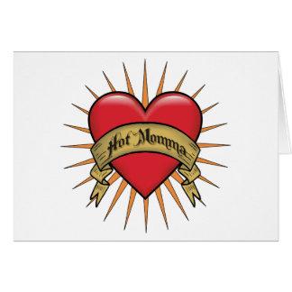 Tattoo Heart Hot Momma Card