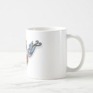 Tattoo heart mugs
