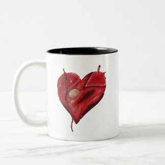 Tattoo Heart On Mug With Black Interior