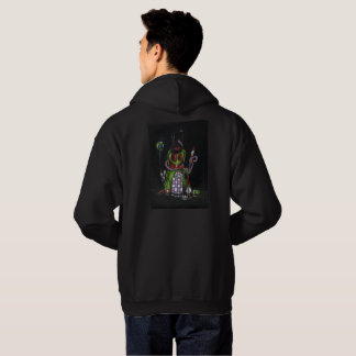Tattoo Heart & Rabbit on Black Hoodie