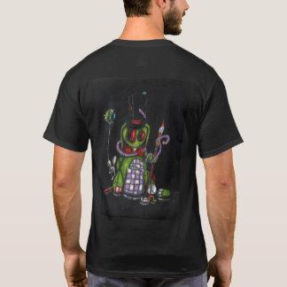 Tattoo Heart & Rabbit on Black T-Shirt