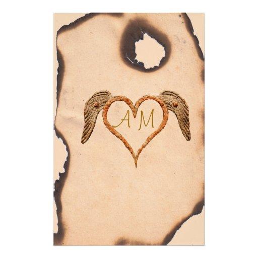 Tattoo Heart Customized Stationery