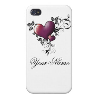 tattoo heart w/name cases for iPhone 4