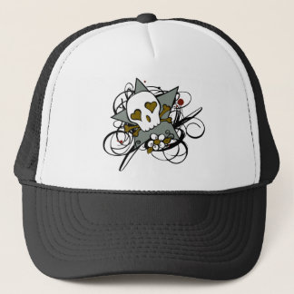 Tattoo Inspired Skull Star Trucker Hat