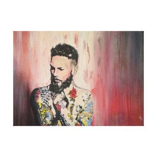 Tattoo Man Canvas Print