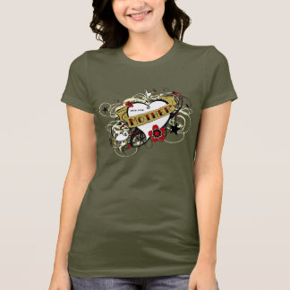 Tattoo MOM Heart & Swallows T-shirt