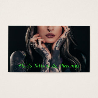 Tattoo & Piercings Shop Business Card