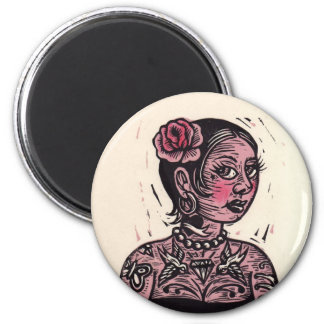 Tattoo Pin Up Girl Magnet