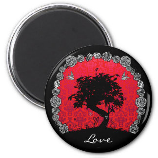 Tattoo Rose Bonsai Tree of Love Swallow Magnet