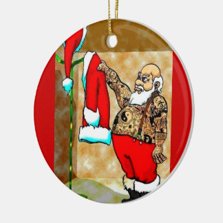 tattoo santa ornament